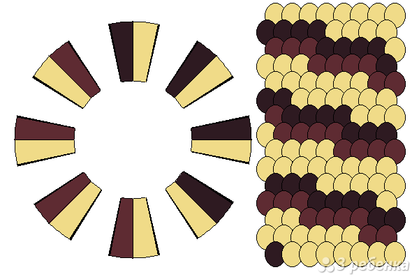 Схема фенечки кумихимо 15330