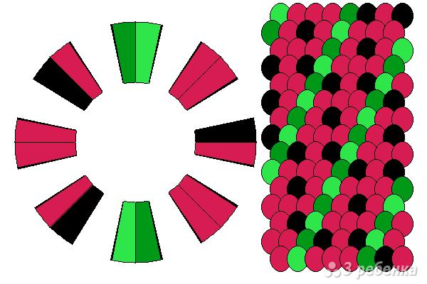 Схема фенечки кумихимо 15235