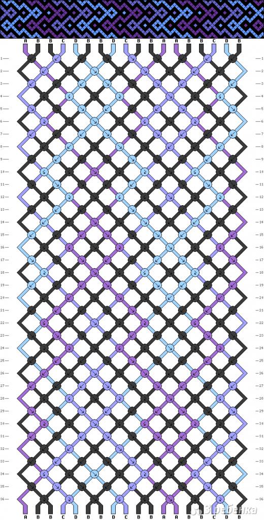 Схема фенечки 13740