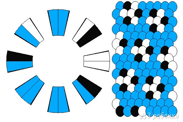 Схема фенечки кумихимо 15326