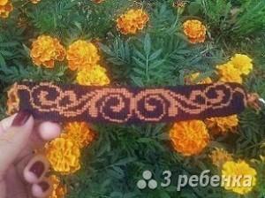 Схема фенечки прямым плетением 14528
