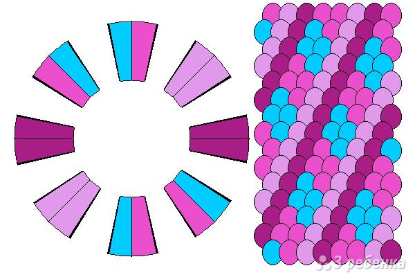 Схема фенечки кумихимо 15322