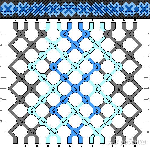 Схема фенечки 13512