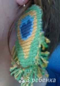 Схема фенечки прямым плетением 14449