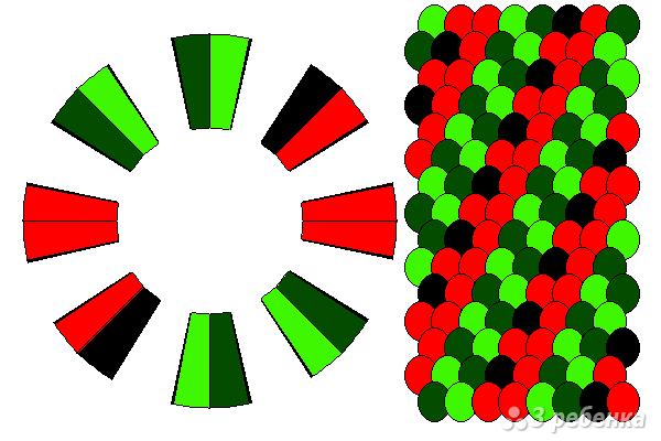Схема фенечки кумихимо 15260