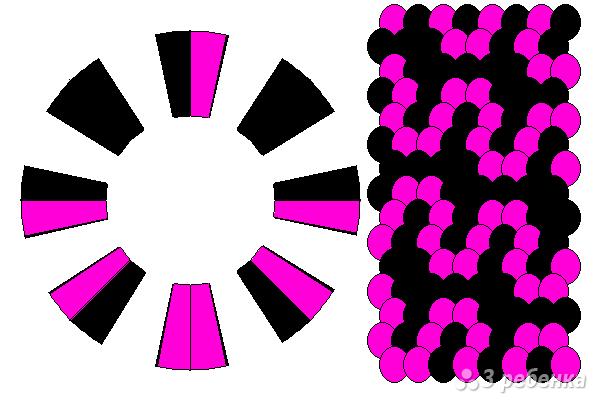 Схема фенечки кумихимо 15423