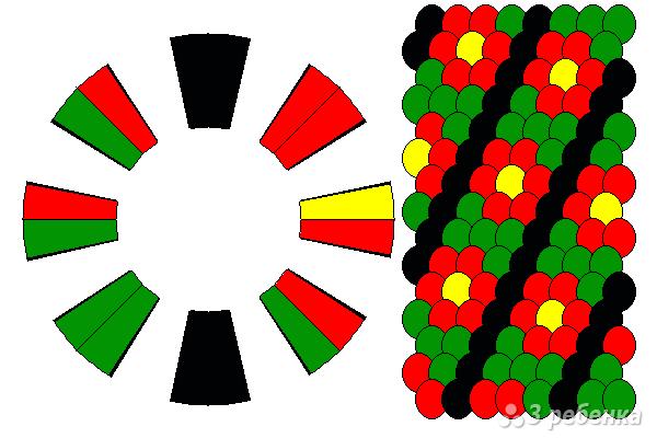 Схема фенечки кумихимо 15239