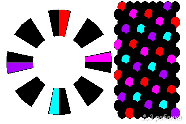 Схема фенечки кумихимо 15140