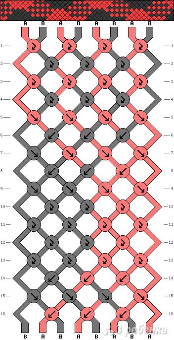 Схема фенечки 13730