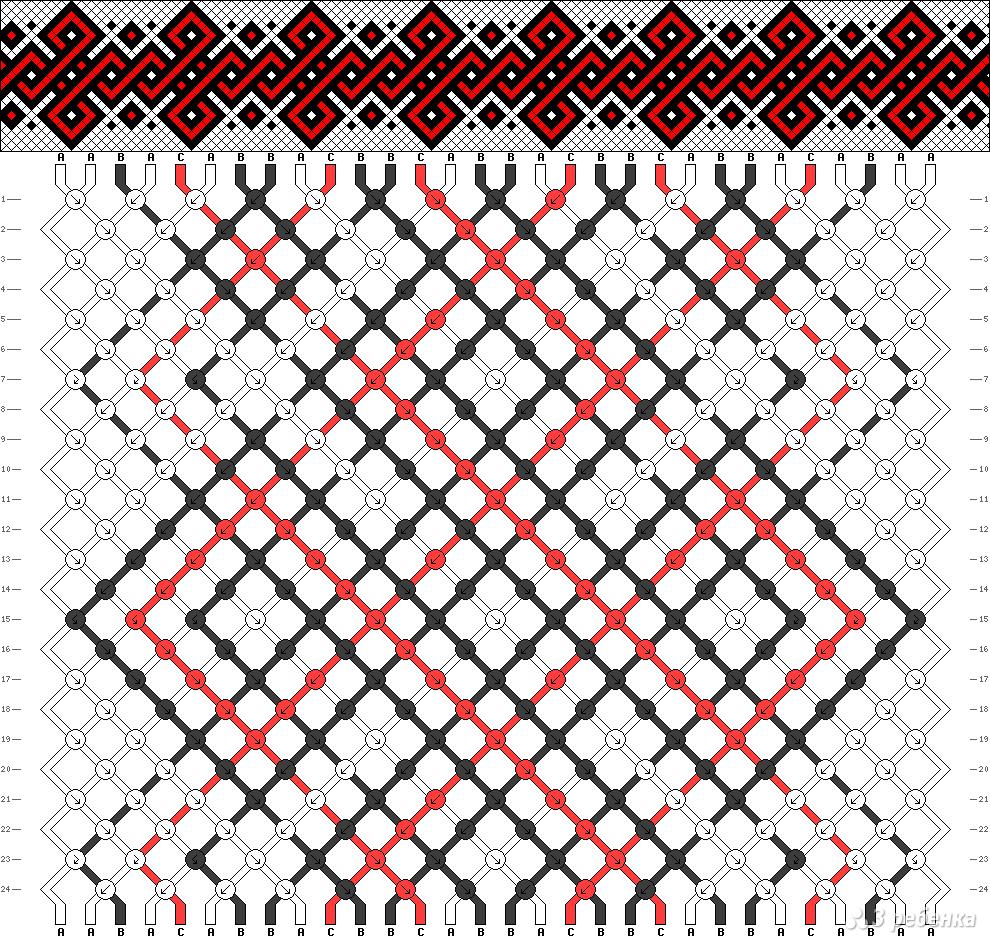 Кельтский узор для фенечек
