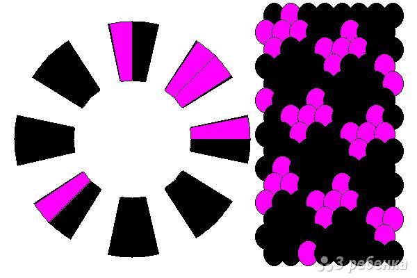 Схема фенечки кумихимо 15135