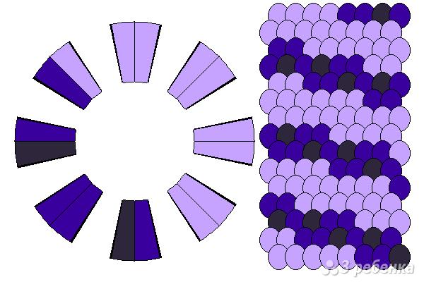 Схема фенечки кумихимо 15318