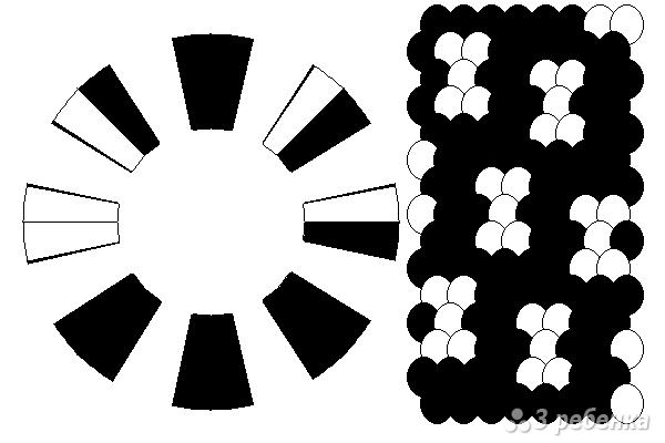 Схема фенечки кумихимо 15230