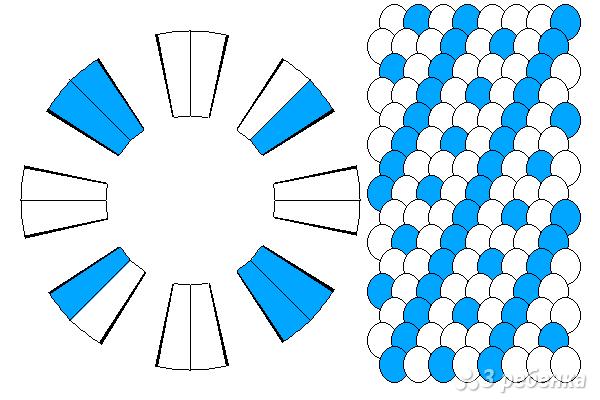 Схема фенечки кумихимо 15131