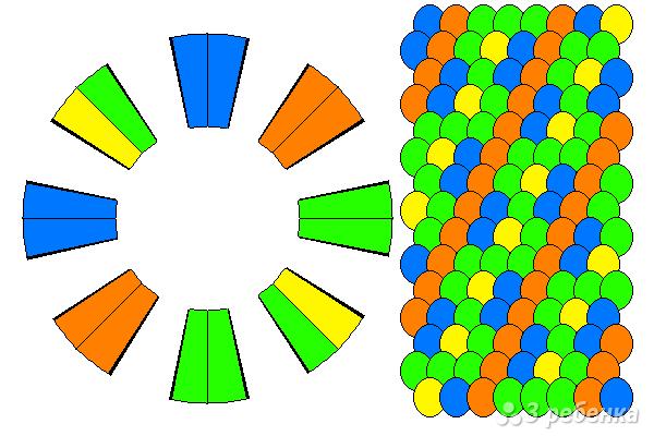 Схема фенечки кумихимо 15411
