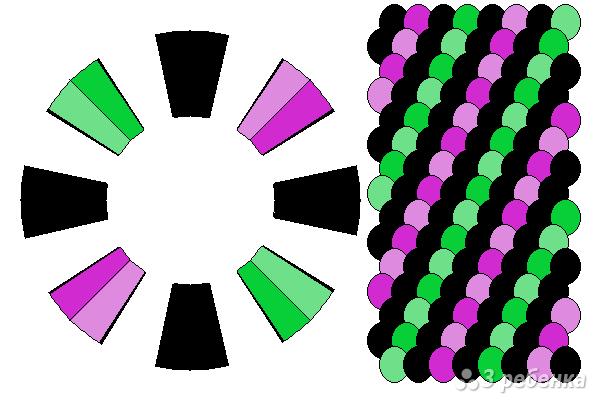 Схема фенечки кумихимо 15126
