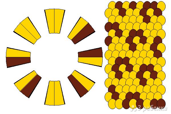 Схема фенечки кумихимо 15407