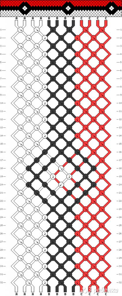 Схема фенечки 13817