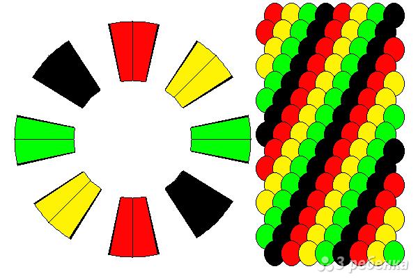 Схема фенечки кумихимо 15178