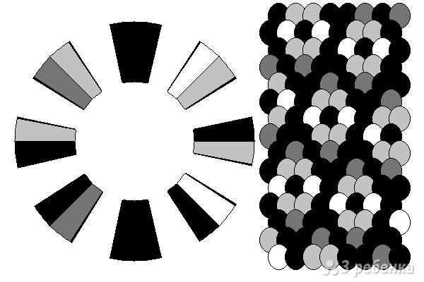 Схема фенечки кумихимо 15310
