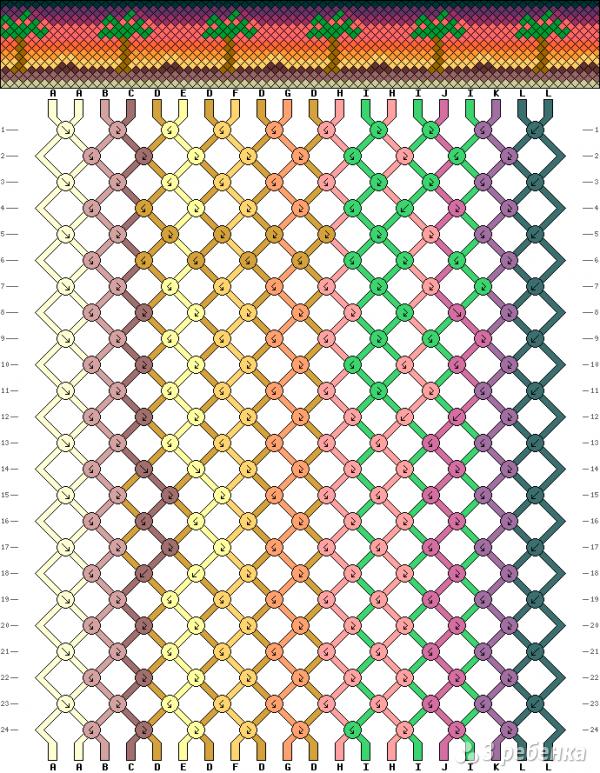 Схема фенечки 13785