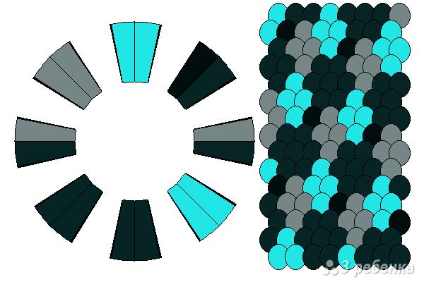 Схема фенечки кумихимо 15305