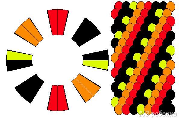 Схема фенечки кумихимо 15118