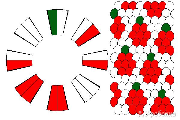 Схема фенечки кумихимо 15403