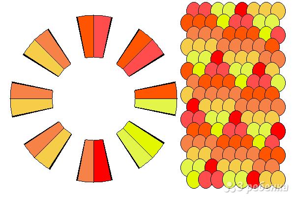 Схема фенечки кумихимо 15299