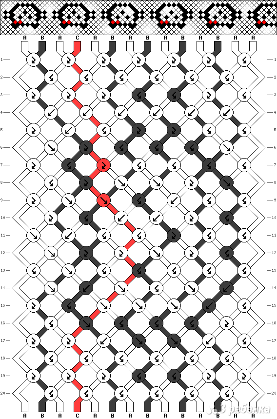 Схема фенечки 13602