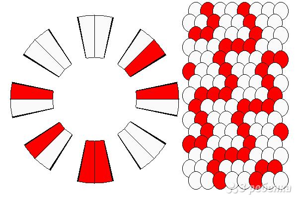Схема фенечки кумихимо 15207