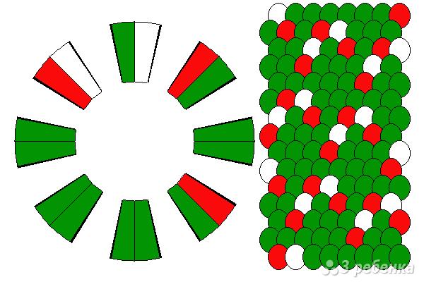 Схема фенечки кумихимо 15399