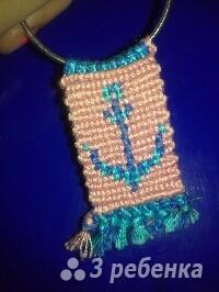 Схема фенечки прямым плетением 14430
