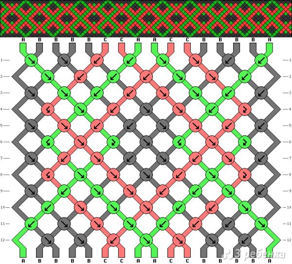 Схема фенечки 13648