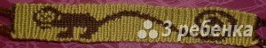 Схема фенечки прямым плетением 14483