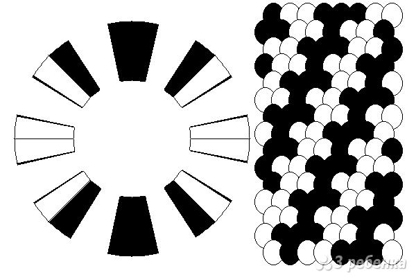 Схема фенечки кумихимо 15201