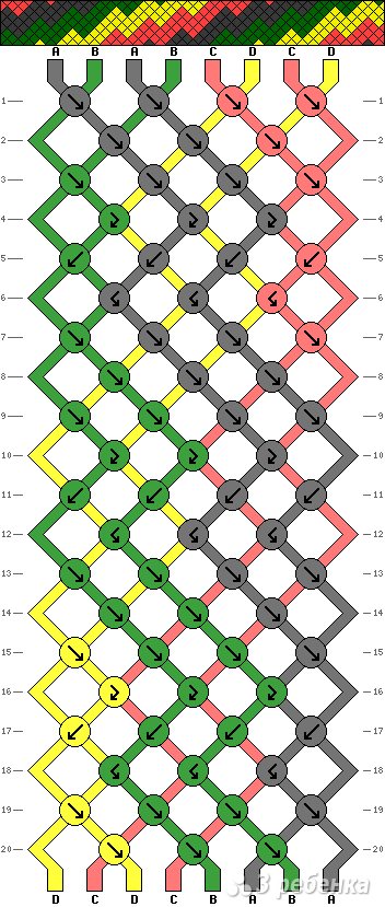 Схема фенечки 13498
