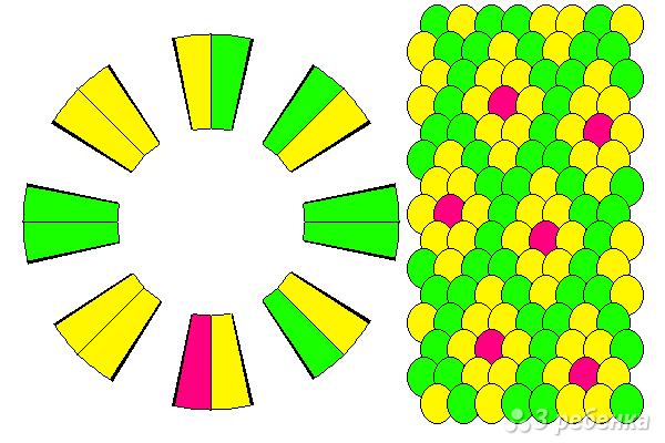 Схема фенечки кумихимо 15386