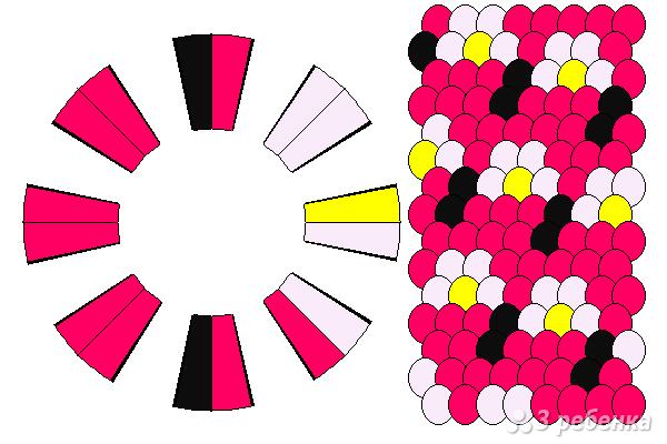 Схема фенечки кумихимо 15166