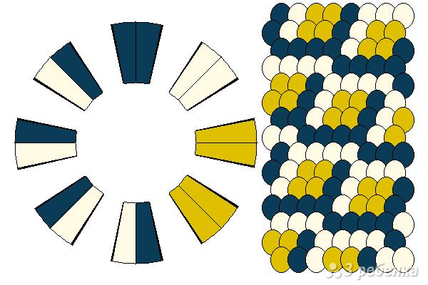 Схема фенечки кумихимо 15382