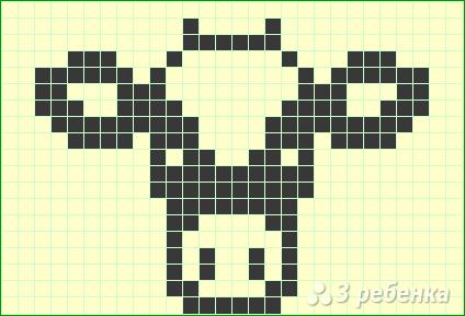 Схема фенечки прямым плетением 14364