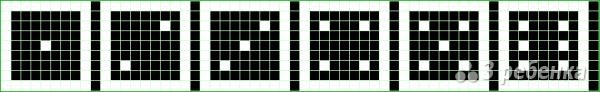 Схема фенечки прямым плетением 14624