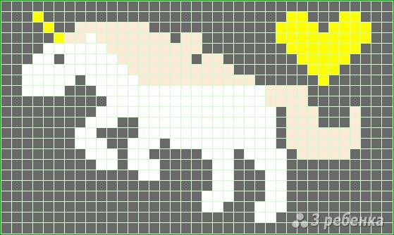 Схема фенечки прямым плетением 14629