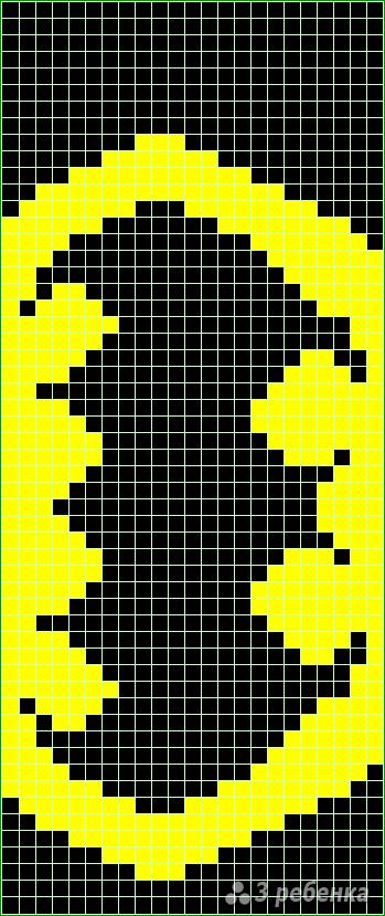 Схема фенечки прямым плетением 14500
