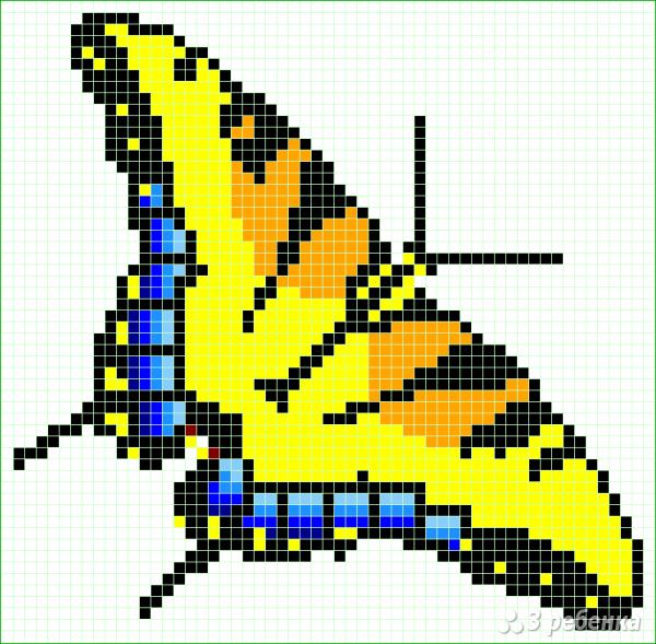 Схема фенечки прямым плетением 14390