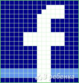 Схема фенечки прямым плетением 14442