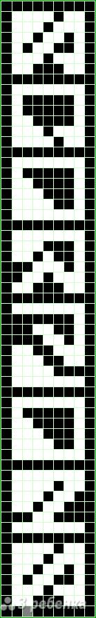 Схема фенечки прямым плетением 14287