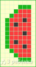 Схема фенечки прямым плетением 14312
