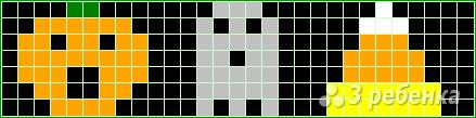 Схема фенечки прямым плетением 14550