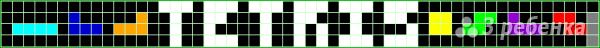 Схема фенечки прямым плетением 14603